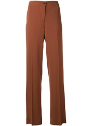Alberto Biani Wide Leg Trousers Brown