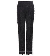 Dolce And Gabbana Lace Trousers Black