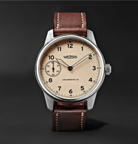Weiss Special Issue 42Mm Stainless Steel And Leather Field Watch Chocolate