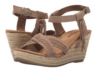 Minnetonka Naomi Taupe Suede Women's Wedge Shoes