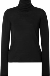 Max Mara Wool Turtleneck Sweater Black