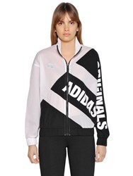 Adidas Mesh And Crepe Zip Up Track Jacket