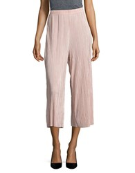 1.State Black Pleated Culottes Rosy Flush
