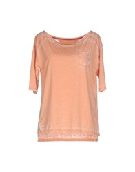 Tommy Hilfiger Denim Topwear T Shirts Women Salmon Pink