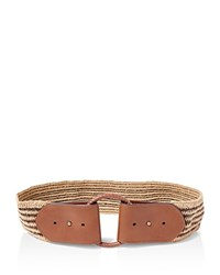 Ralph Lauren O Ring Stretch Belt Brown Natural Tan