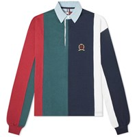 Tommy Jeans Hilfiger Collection Crest Rugby Top Multi