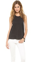James Perse Crepe Jersey A Line Tank Carbon
