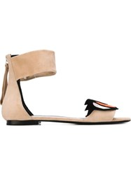 Pierre Hardy 'Oh Roy' Sandals Nude And Neutrals