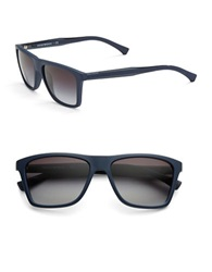 Emporio Armani Modern Wayfarer Sunglasses 146Mm Square Blue