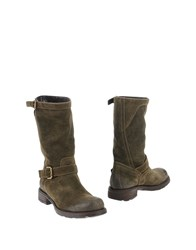 Alexandra Ankle Boots Military Green