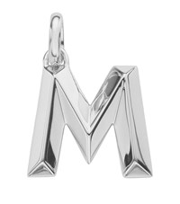 Monica Vinader Sterling Silver Capital M Pendant Female