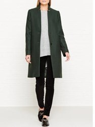 Jigsaw Claudelle Column Coat Bottle Green