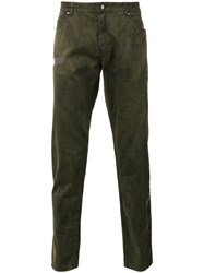 Tom Rebl Striped Detail Tapered Jeans Green