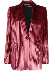 Ann Demeulemeester Striped Textured Blazer 60