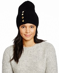 Michael Kors Waffle Stitch Slouchy Hat 100 Bloomingdale's Exclusive Black