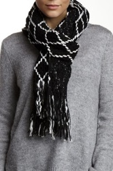 Nine West Diamond Knit Scarf Black
