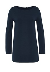 Hallhuber Fine Knit Tunic Jumper Navy