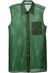 Acne Studios Perforated Sleeveless Shirt Green