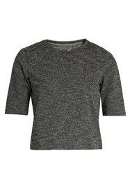 Outdoor Voices X A.P.C Cropped Jersey Performance T Shirt Grey