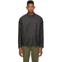 Rag And Bone Black Chambray Chore Shirt Blk 001