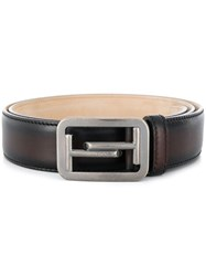 Tod's Double T Buckle Belt Brown