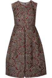 Dolce And Gabbana Metallic Brocade Dress Burgundy
