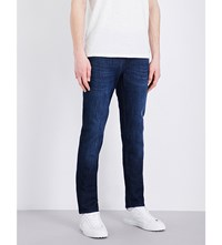 7 For All Mankind Ronnie Weightless Slim Fit Skinny Jeans Dark Blue