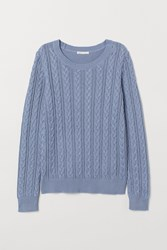 Handm H M Cable Knit Sweater Blue