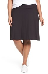Three Dots Plus Size Women's Fold Over A Line Skirt