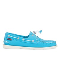 Sebago Turquoise Neoprene Dockside Boat Shoes Blue