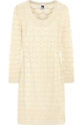 M Missoni Metallic Crochet Knit Dress