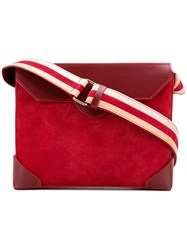 Manu Atelier Bold Cross Body Bag Red