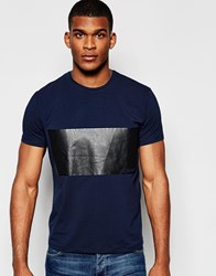Dkny T Shirt Printed Chest Panel Navy
