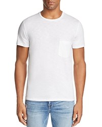 7 For All Mankind Heathered Pocket Tee White