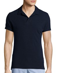 Orlebar Brown Felix Slim Fit Johnny Collar Polo Shirt Navy Size Large
