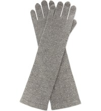 William Sharp Swarovski Elbow Cashmere Gloves 001Ssha