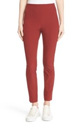 Theory 'Navalane Becker' Stretch Ponte Skinny Pant Red