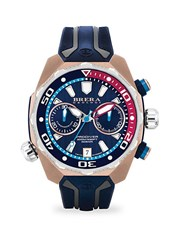 Brera Orologi Pro Diver Rose Goldtone Stainless Steel And Rubber Strap Watch