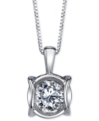 Sirena Diamond Modern Pendant Necklace 1 4 Ct. T.W. In 14K White Gold