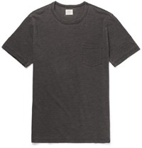 Faherty Slub Cotton T Shirt Green