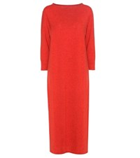 Isabel Marant Cara Wool And Cotton Blend Sweater Dress Red