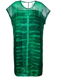 Raquel Allegra Printed Dress Green