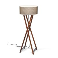 Marset Cala Outdoor Floor Lamp Brown Grey White