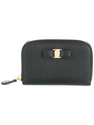 Salvatore Ferragamo Zip Around Vara Wallet Black