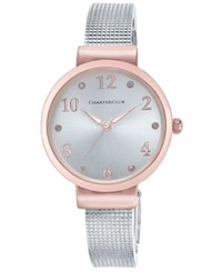 Charter Club Women's Silver Tone Mesh Bracelet Watch 32Mm Only At Macy's Two Tone