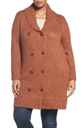 Melissa Mccarthy Seven7 Plus Size Women's Double Breasted Cardigan