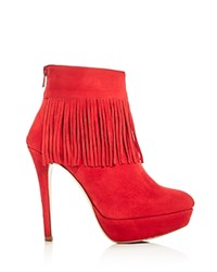 Charles David Lula Fringe High Heel Platform Booties Compare At 420 Red