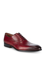 Saks Fifth Avenue Leather Captoe Dress Shoe Red