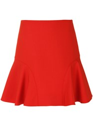 Victoria Beckham A Line Skirt Women Silk Nylon Polyester Wool 8 Yellow Orange