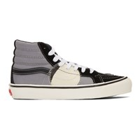 Vans Black And Grey Sk8 Hi Bricolage Sneakers